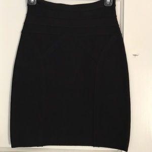 Bebe Black fitted mini skirt